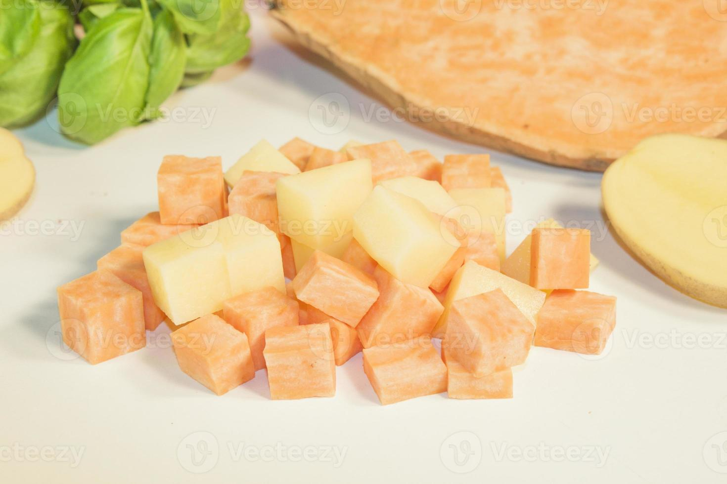 Potato and sweet potato photo