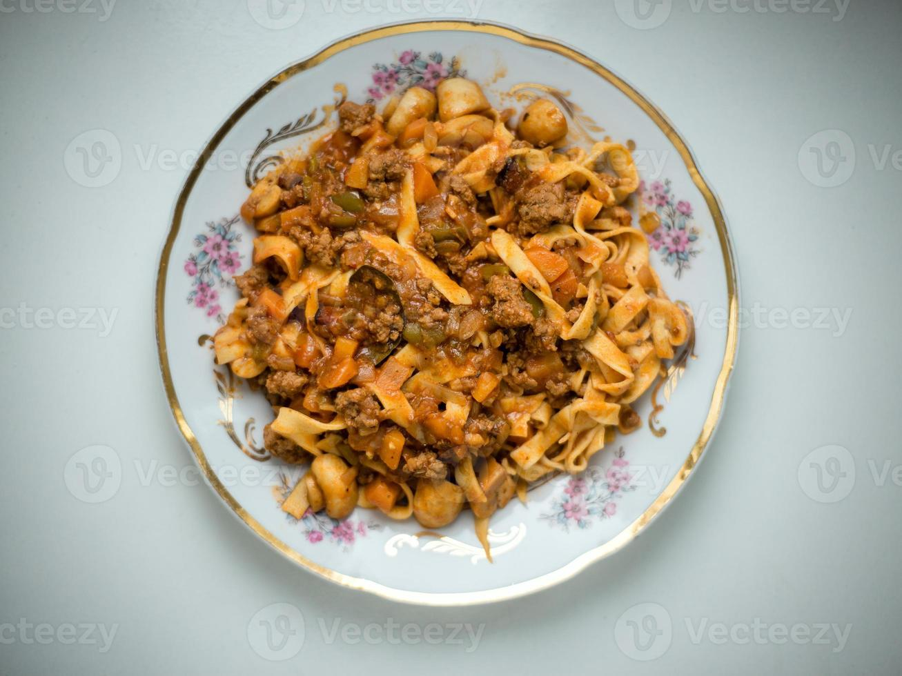 Home made pasta photo