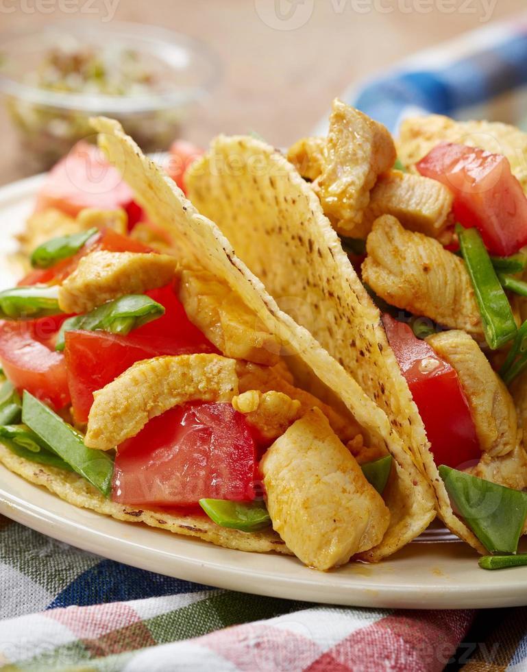 Chicken taco photo