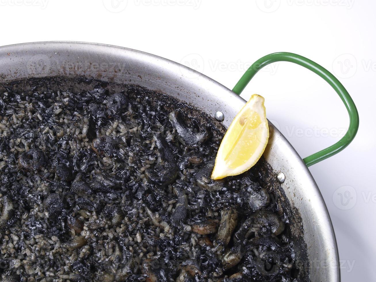 arroz negro - arroz negro foto
