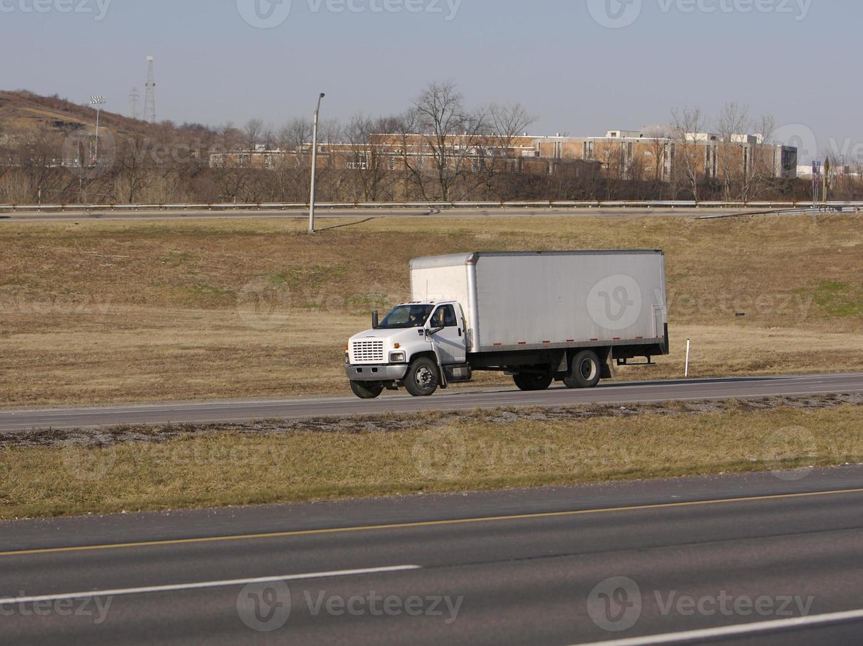 camión caja blanca foto