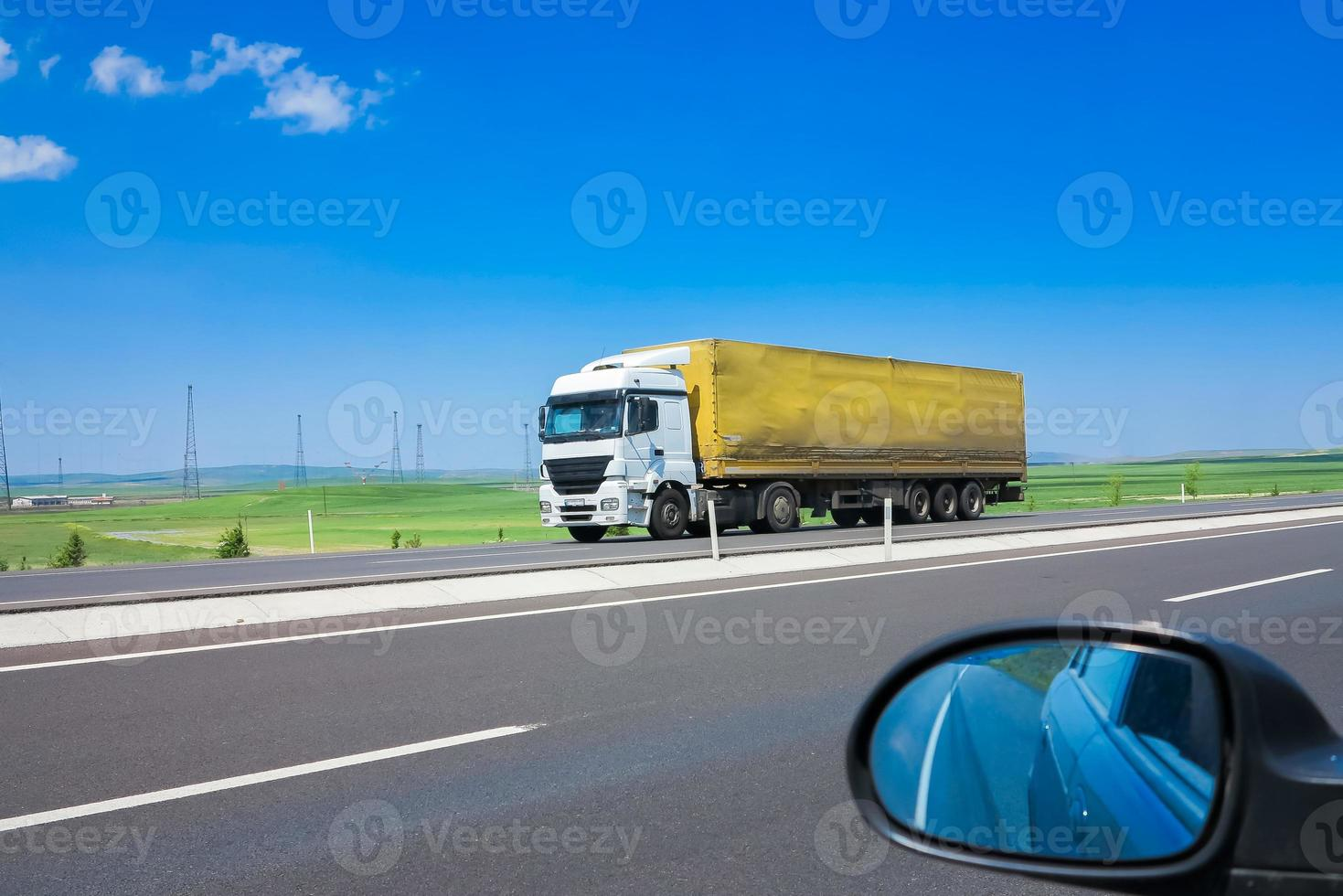 truck on the road photo