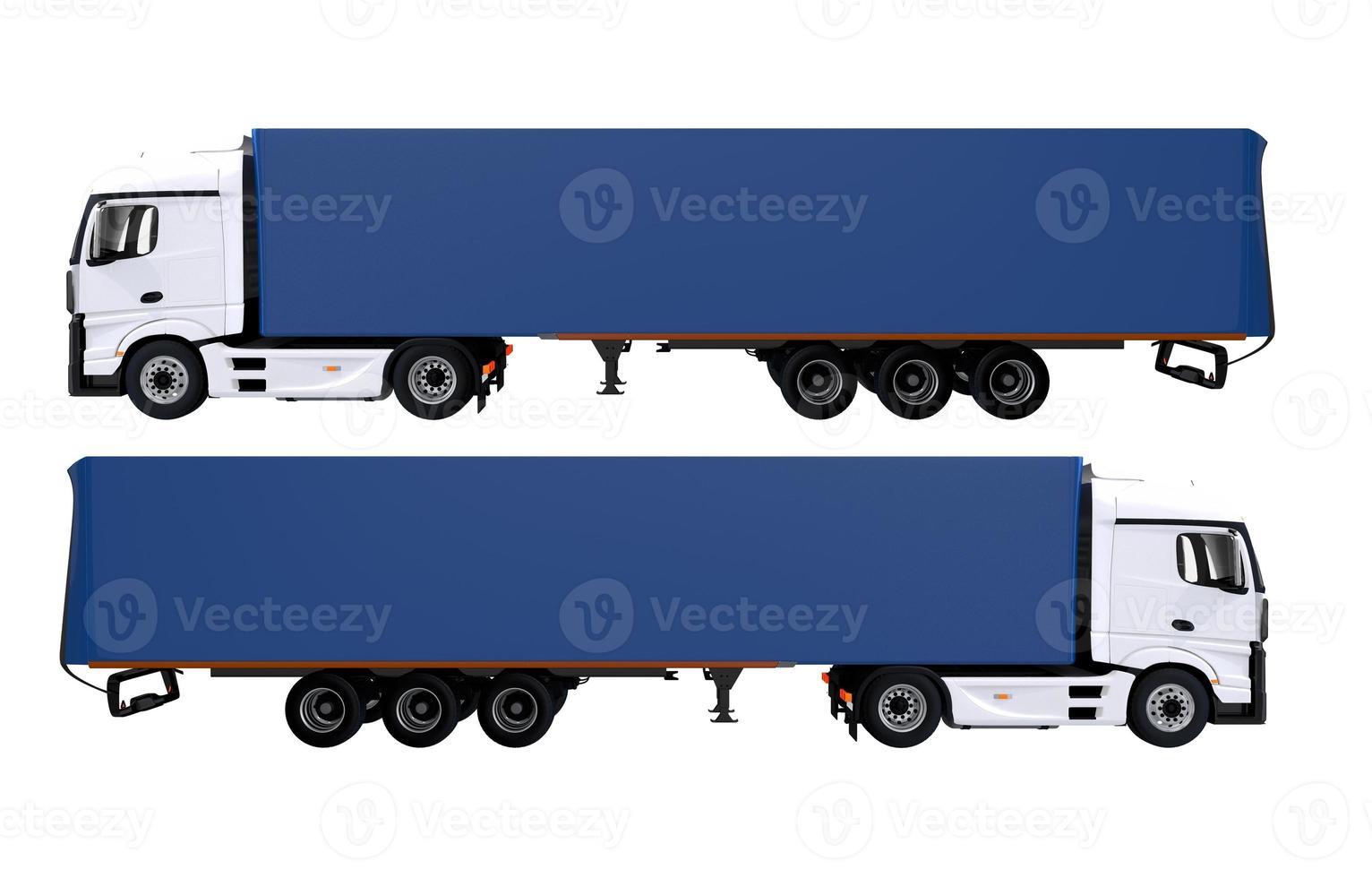 Euro Semi Trucks Isolated photo