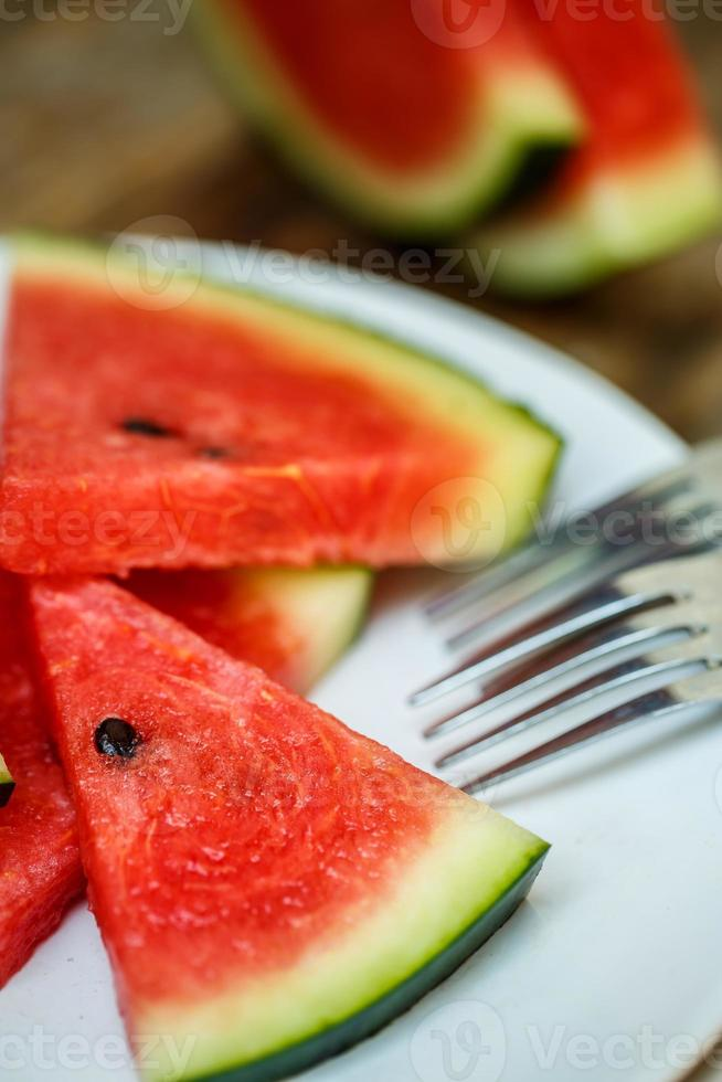 slices of watermelon photo