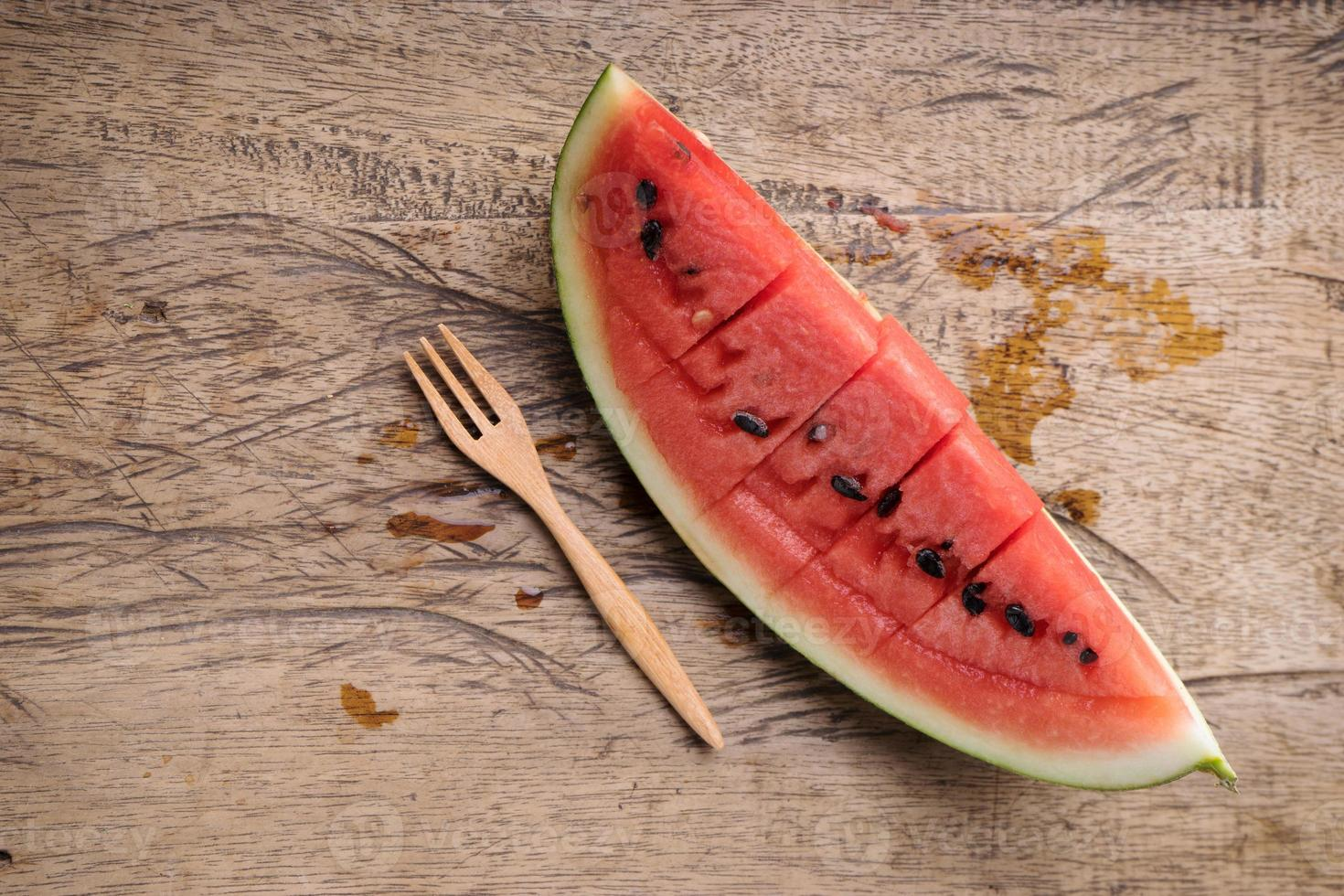 Slices of fresh watermelon photo