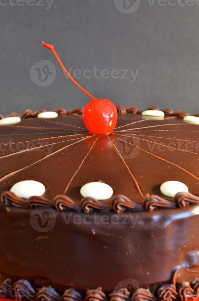 pastel de nuez y chocolate foto