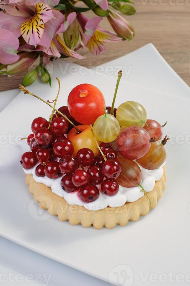 Dessert with fruits photo