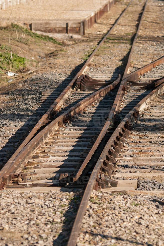 cruce ferroviario foto
