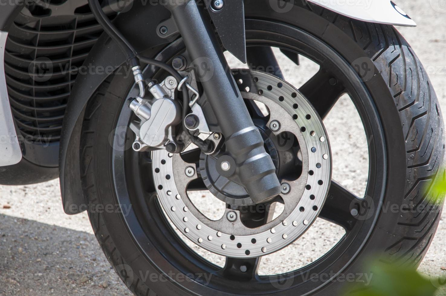 motocicleta de freno de disco foto