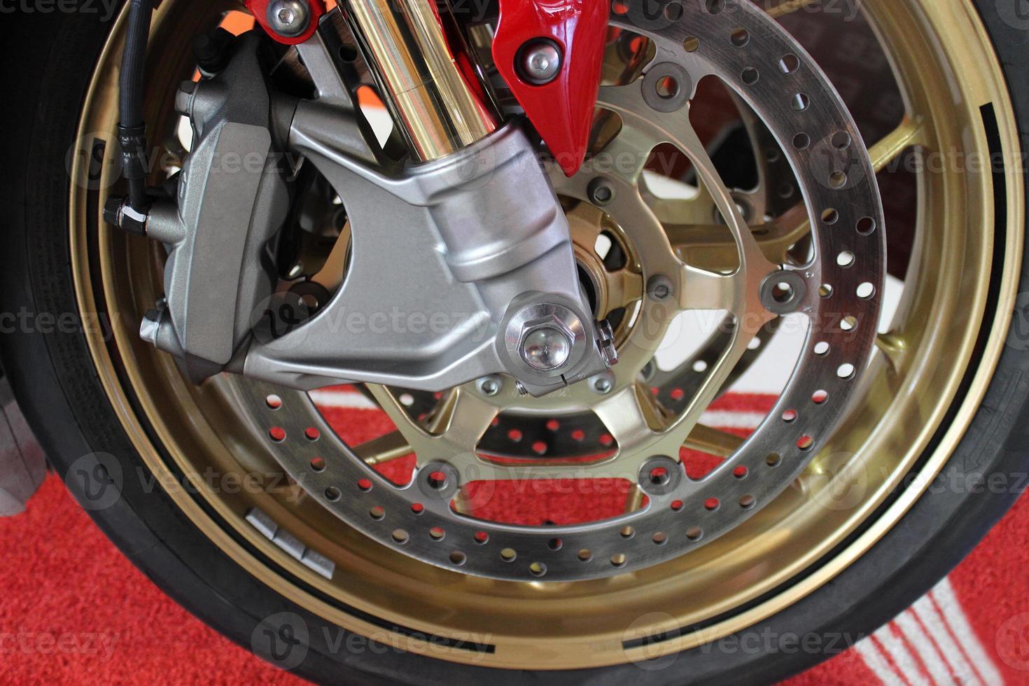 freno de disco de motocicleta foto