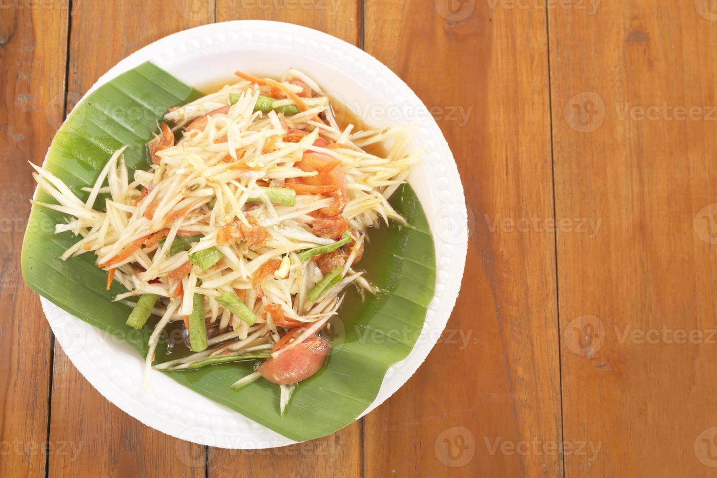 ensalada de papaya foto