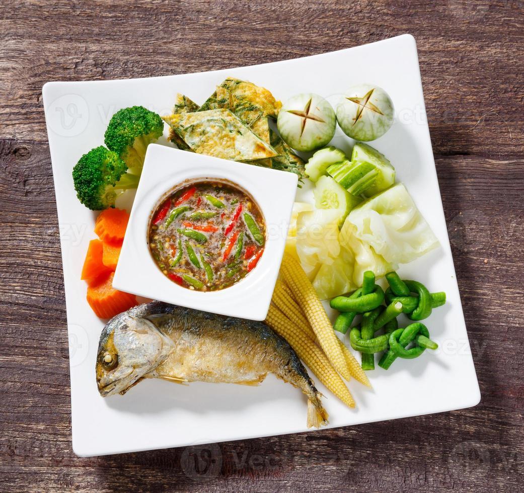 Spicy shrimp paste dip sauce photo