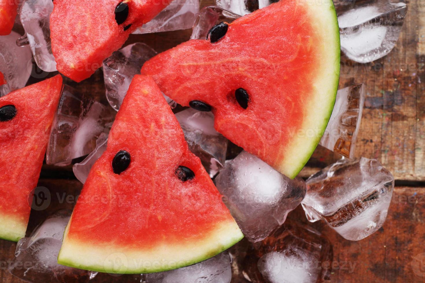 sandía paletas delicioso verano fresco fruta dulce postre foto
