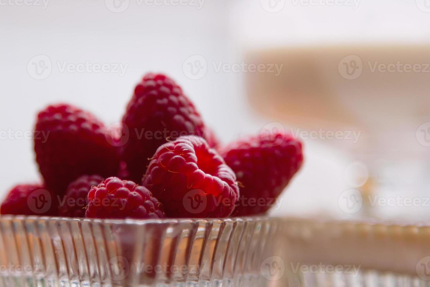Raspberry dessert photo