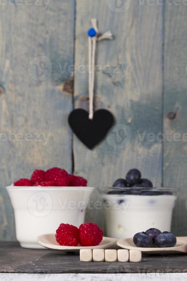 fruit yogurt photo