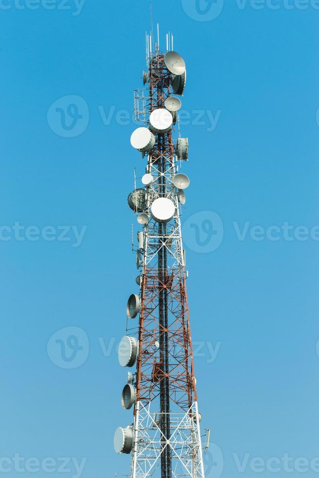 Telecommunication pole photo