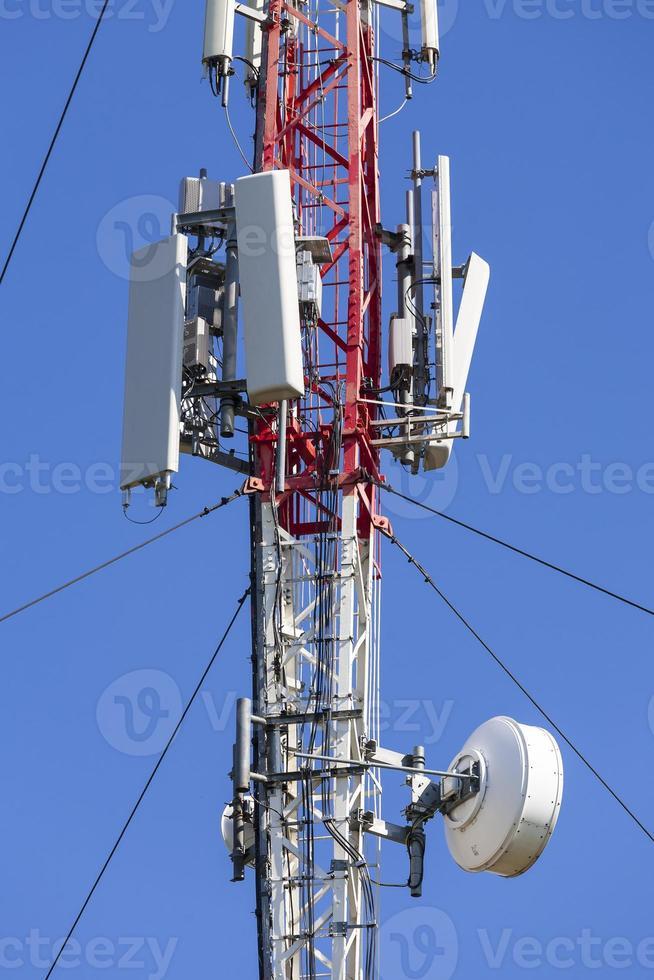 Modern telecommunications tower. photo