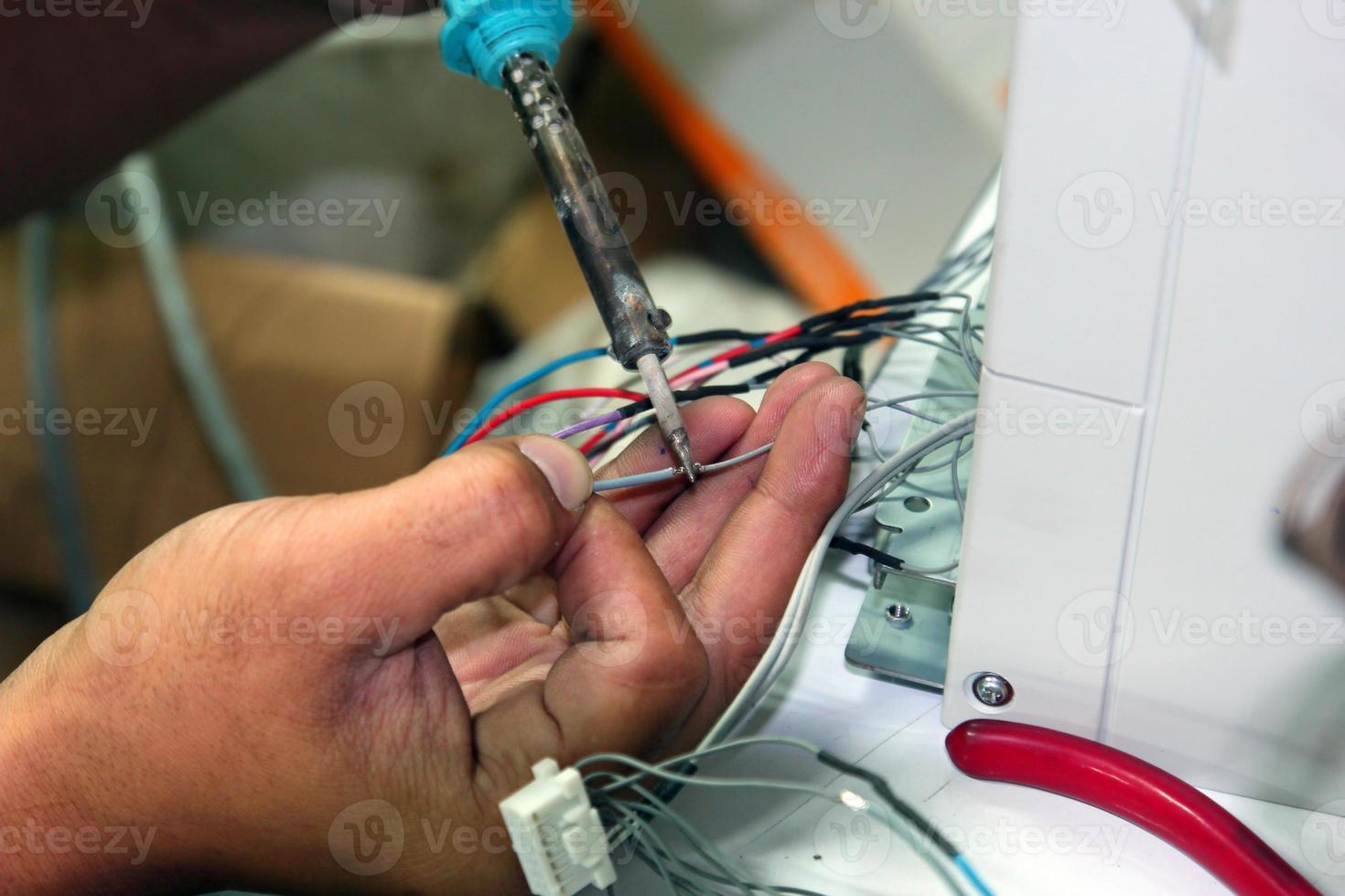 Welding, soldering close photo
