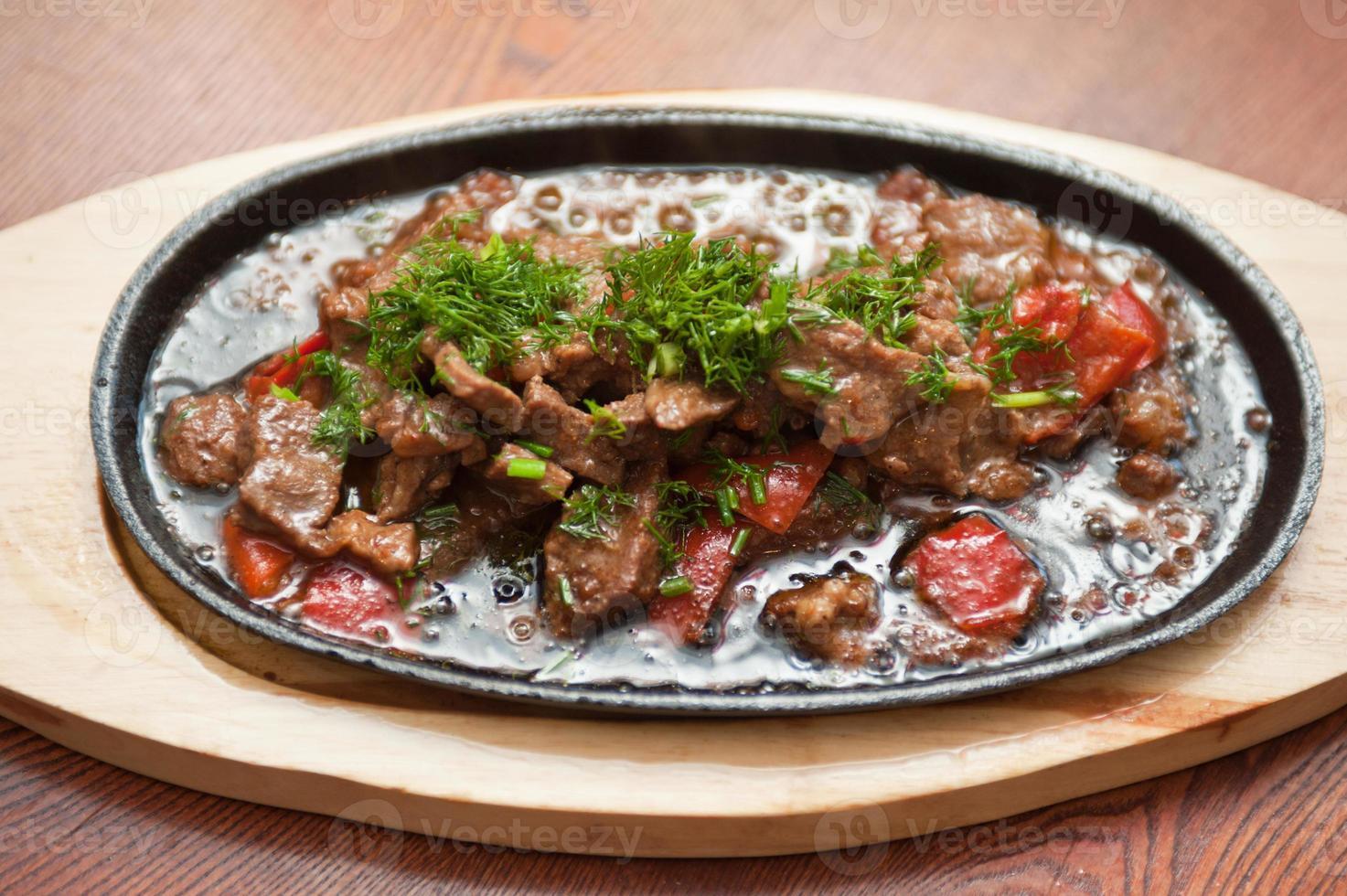 carne con verduras foto