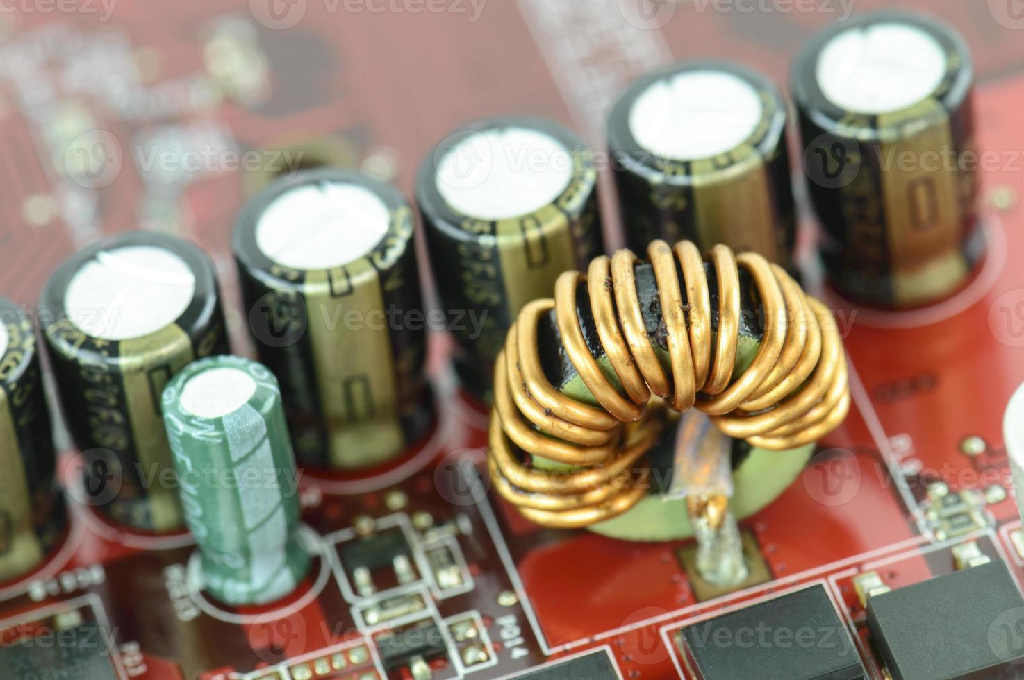 close-up microcircuit photo