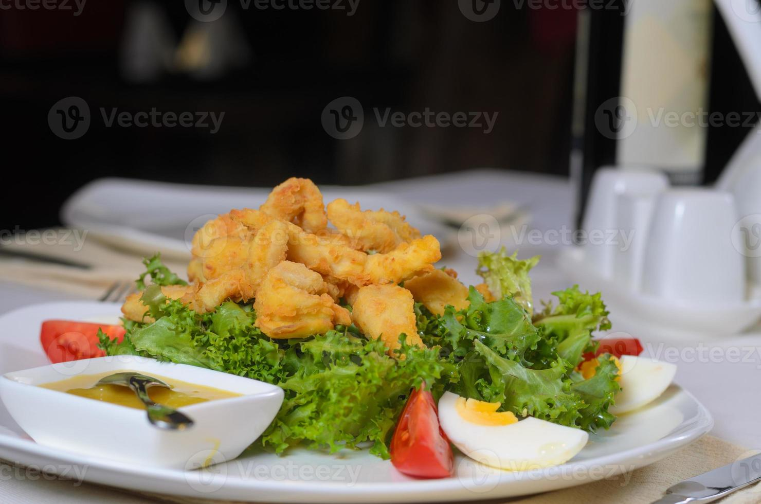 Mouth Watering Main Entree with Tasty Dip Sauce photo