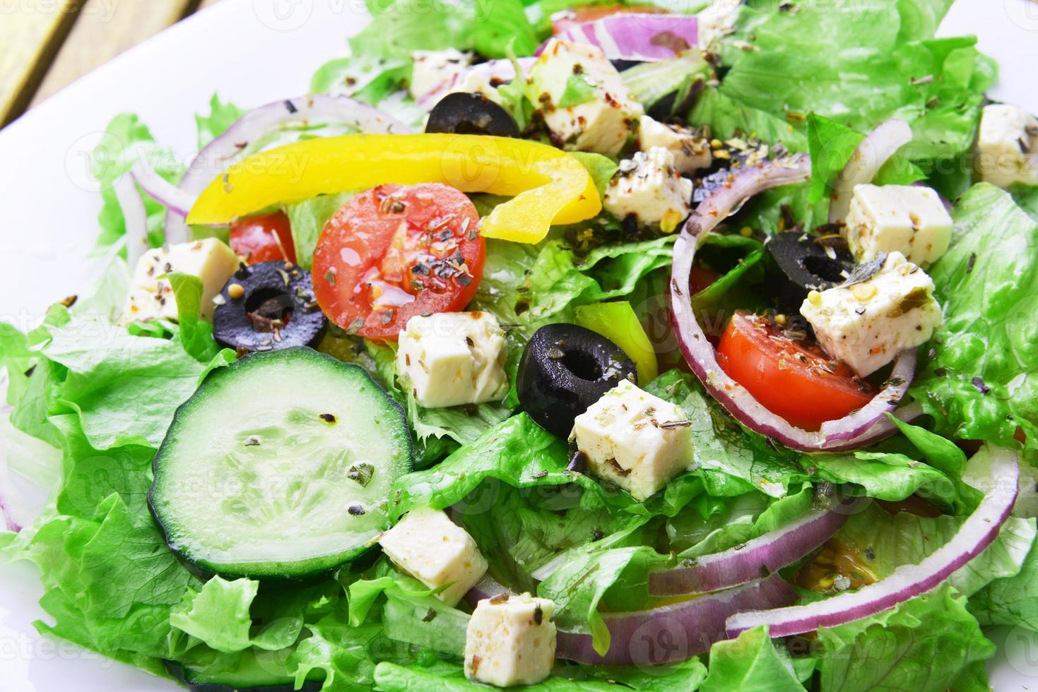 salad with fresh vegetables photo