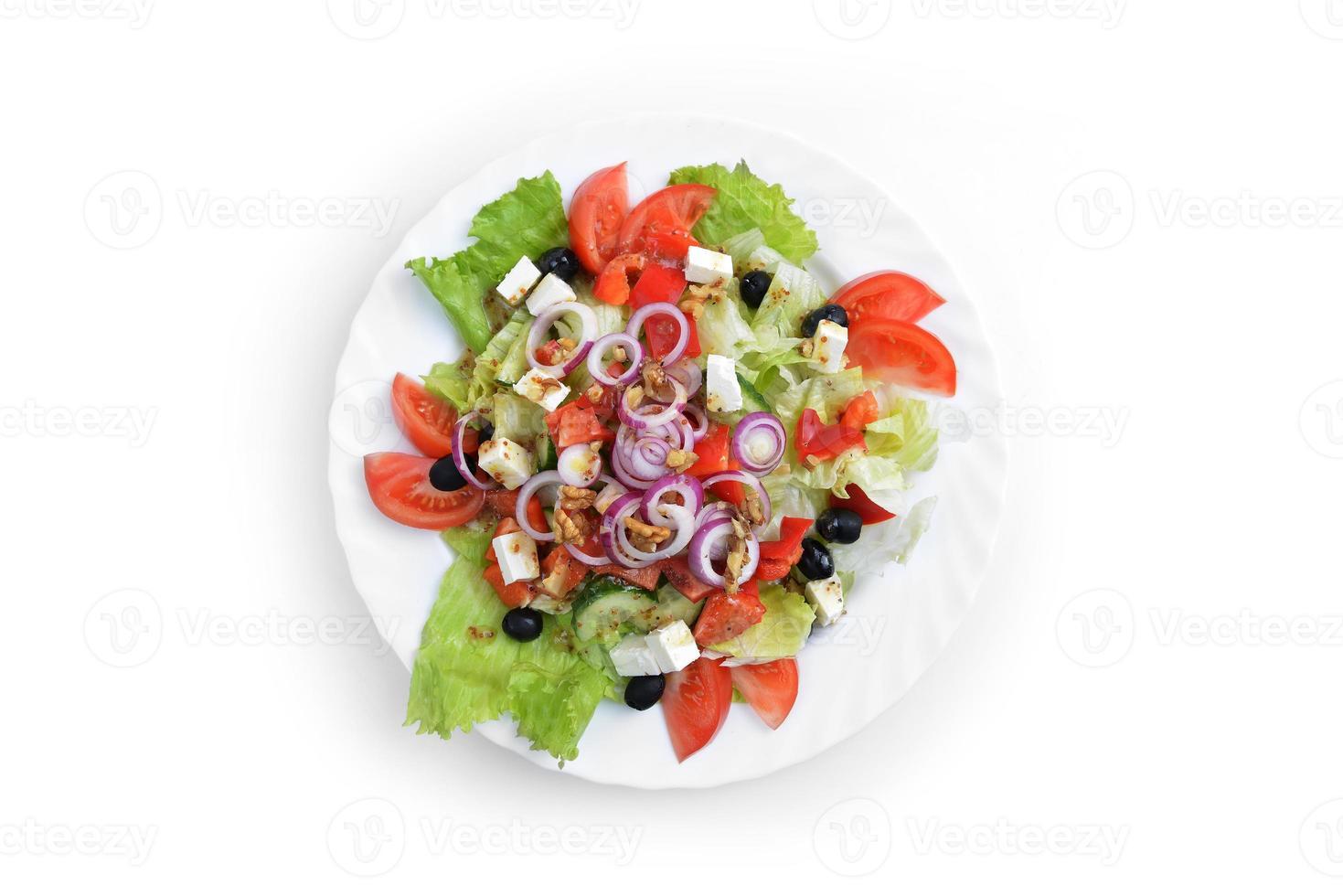 ensalada con verduras frescas foto
