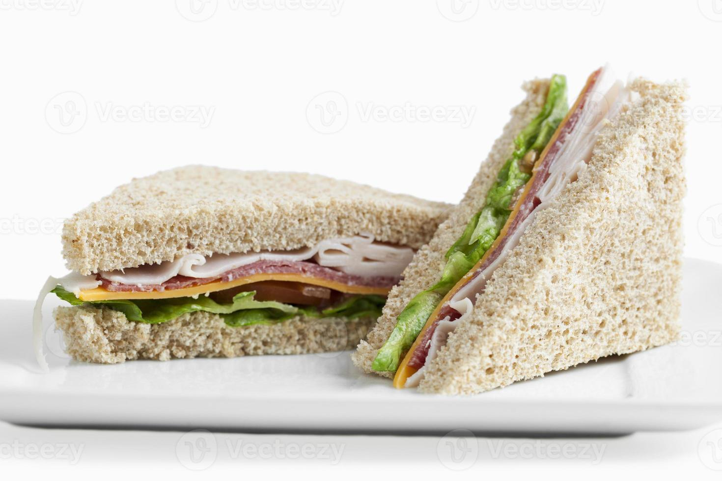 club sandwiches on a plate photo