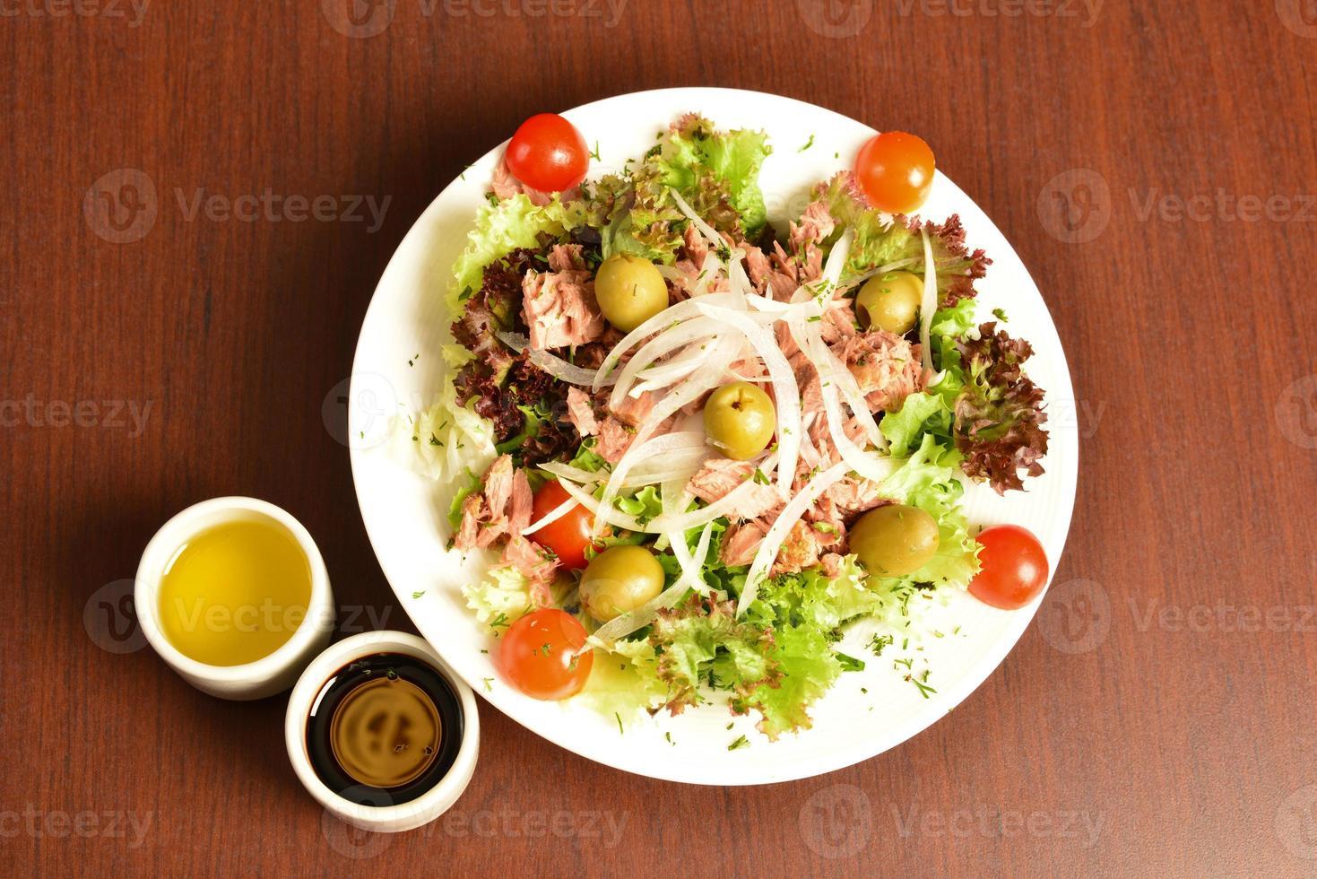Tuna salad. photo