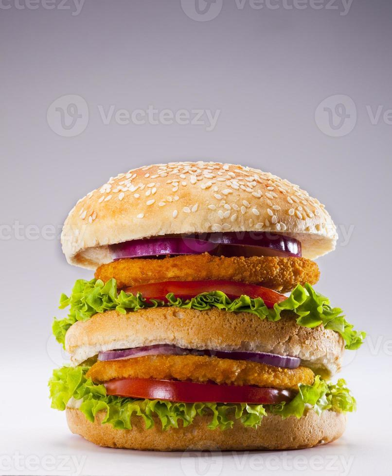 hamburguesa de pollo foto