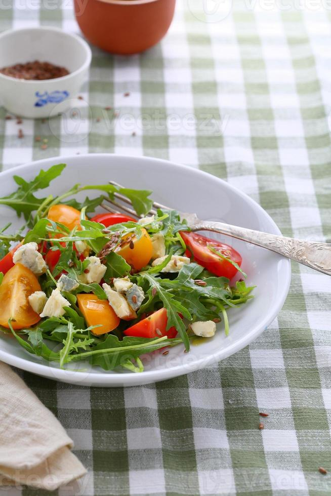 italian salad in bowl photo
