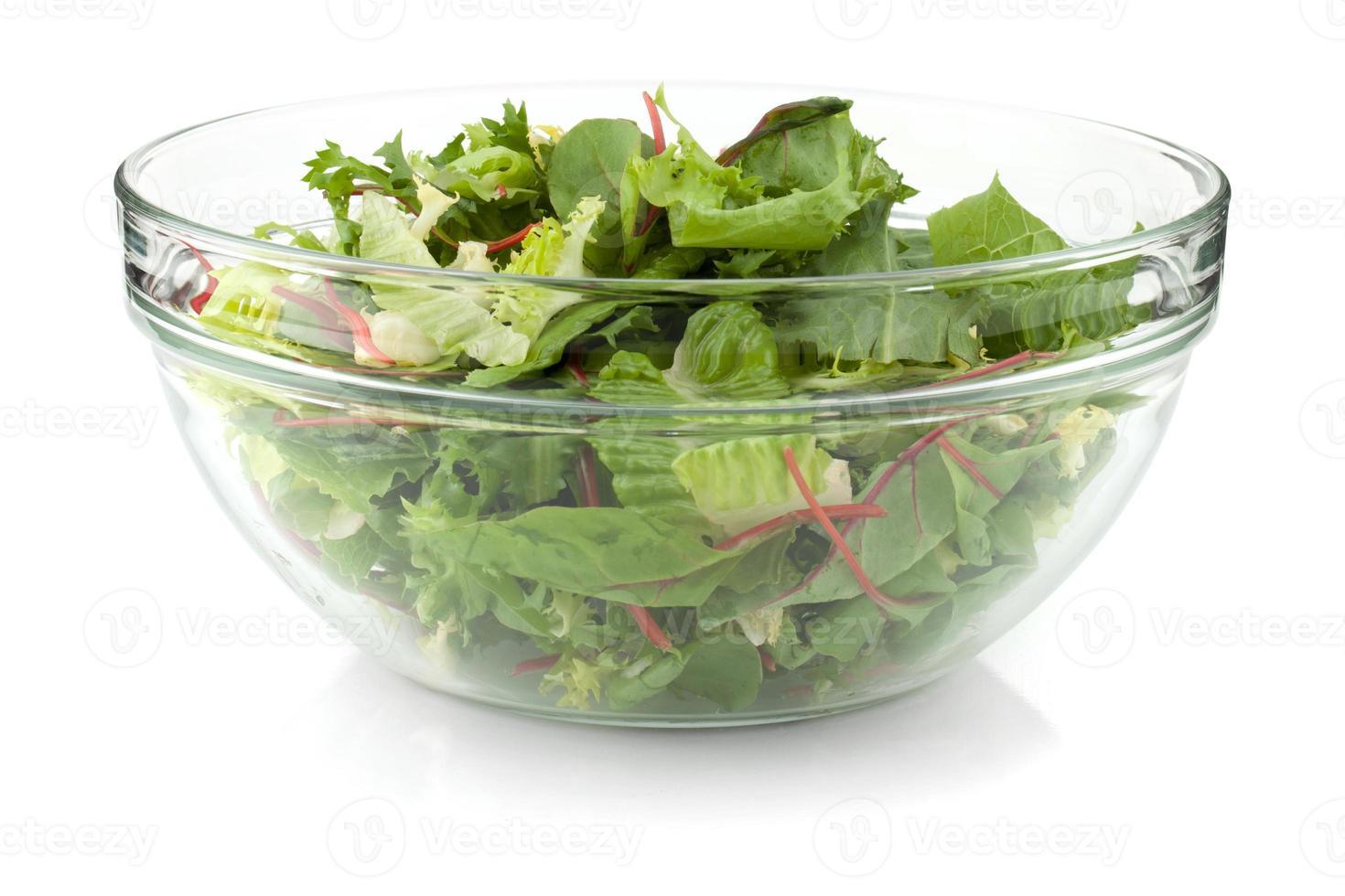 Healthy green salad photo