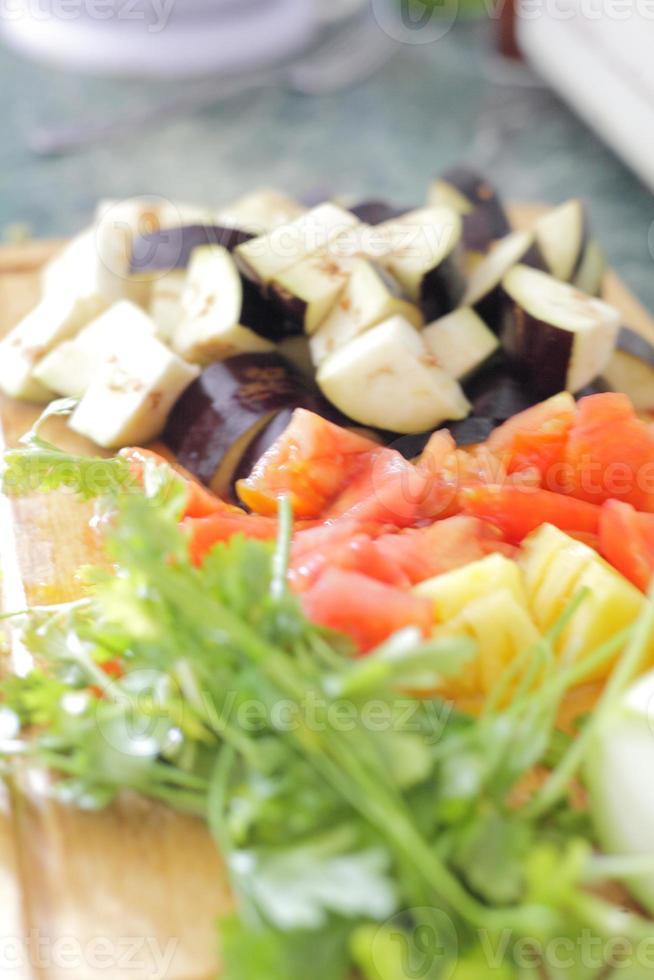comida saludable - vegetales frescos foto