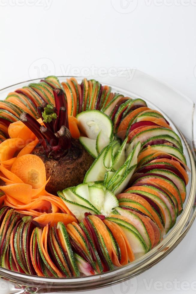 salad  cucumber Beetroot Carrot sliced photo