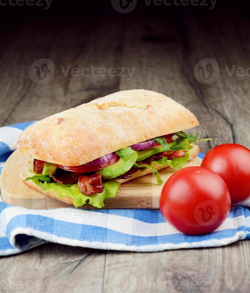 Homemade tasty sandwich photo