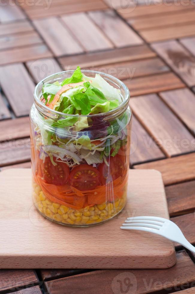 Mason jar salad photo