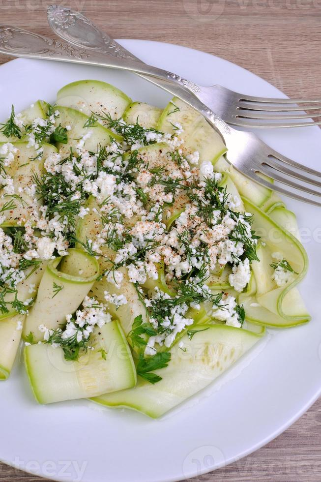 Salad from zucchini with ricotta photo