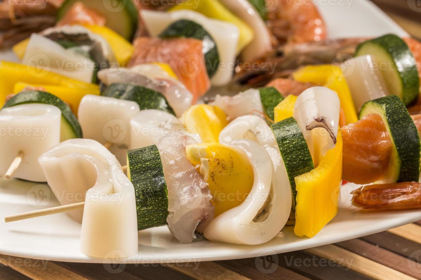 fish skewers photo