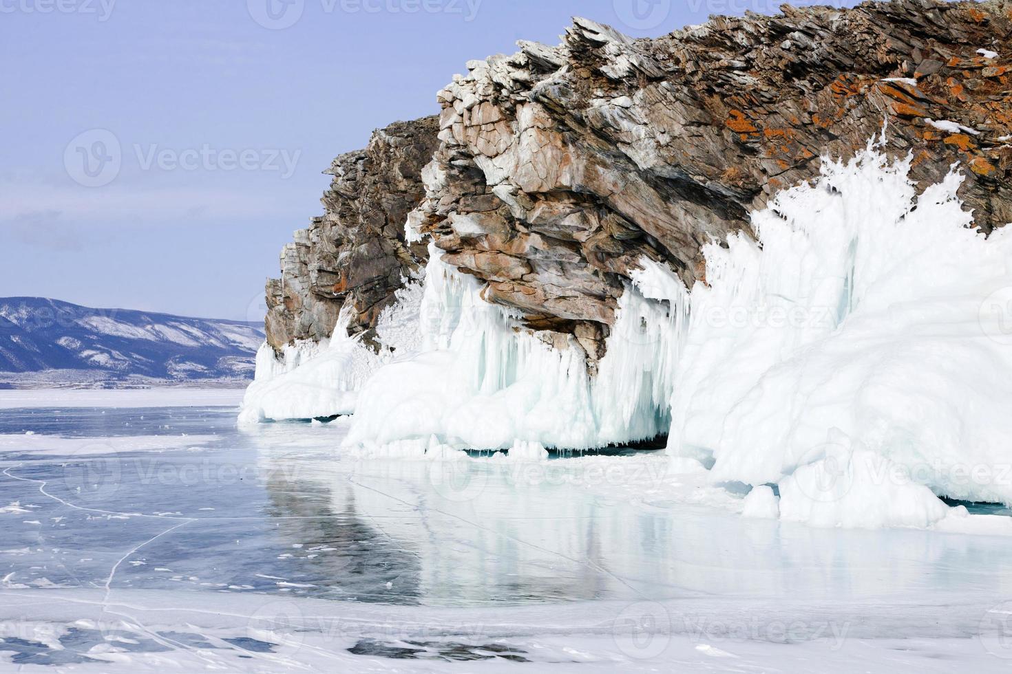 roca sobre hielo foto