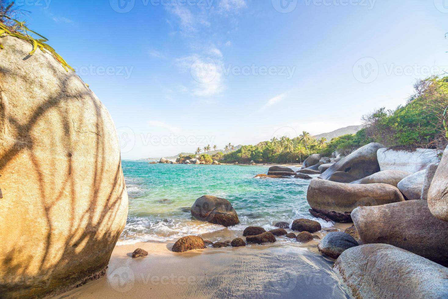 Rocks and Caribbean photo