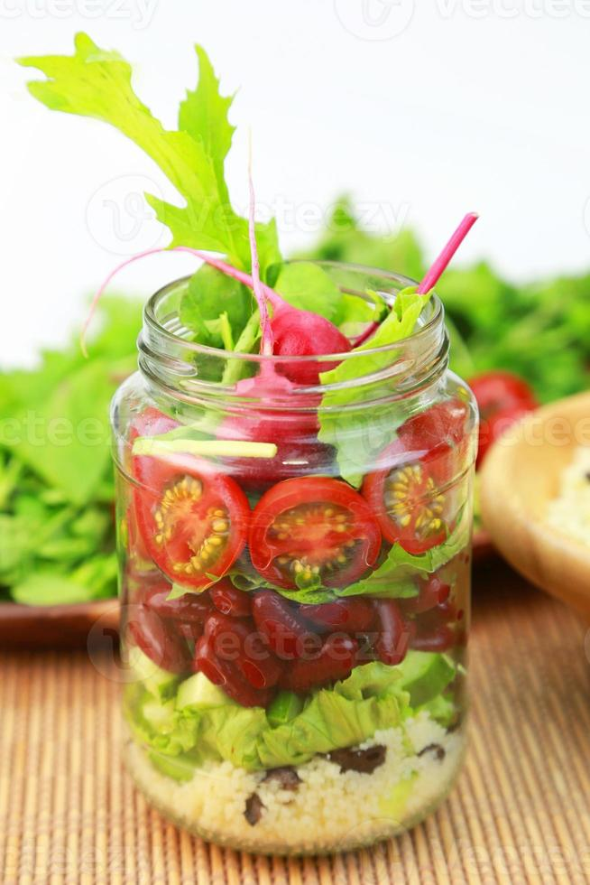 Jar salad photo