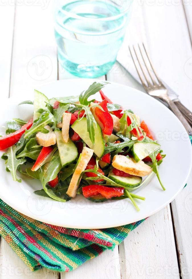 salad with vinaigrette dressing photo