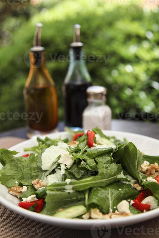Salat with cheese photo