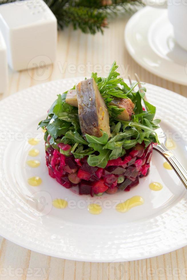 "Russian traditional salad ""vinaigrette."" photo"