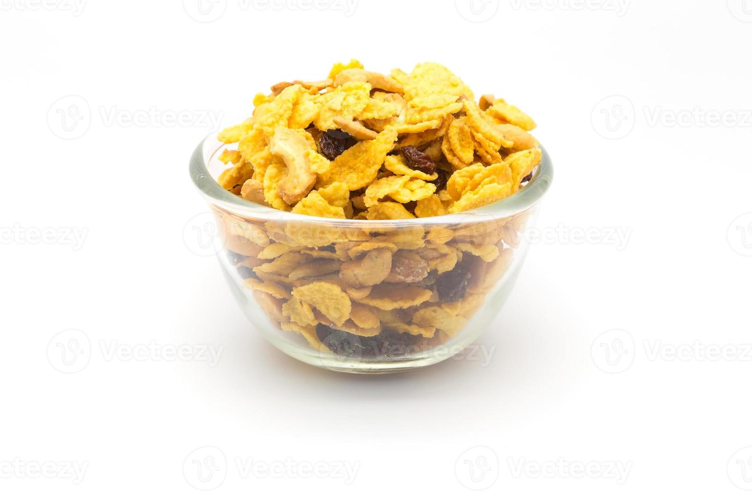 Bowl of homemade honey caramel cornflakes photo