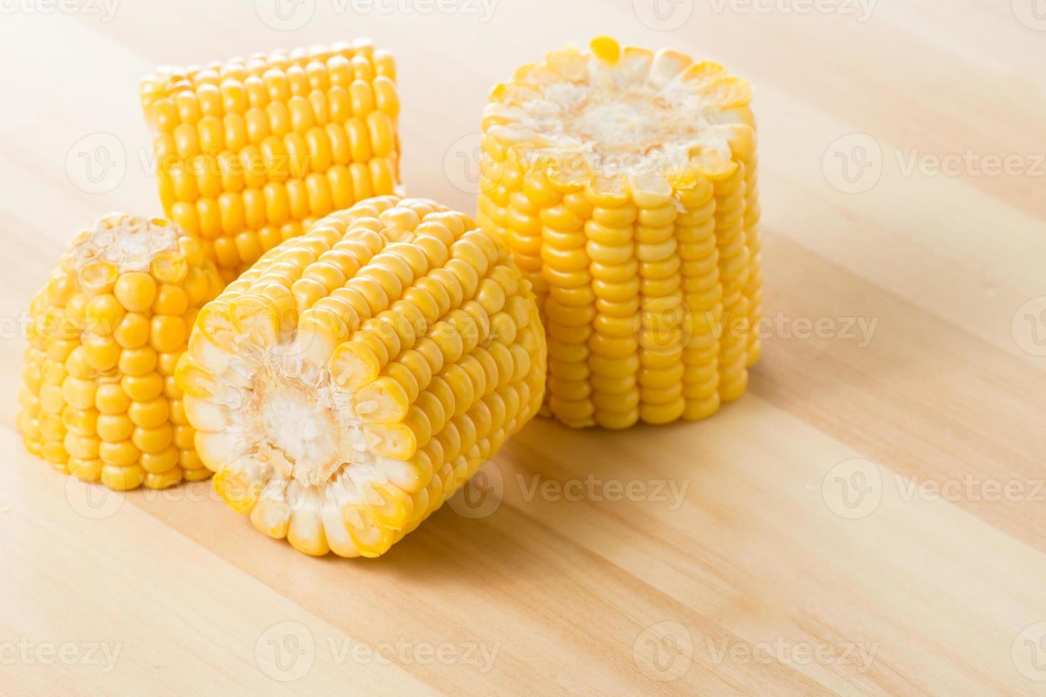 Grains of ripe corn photo