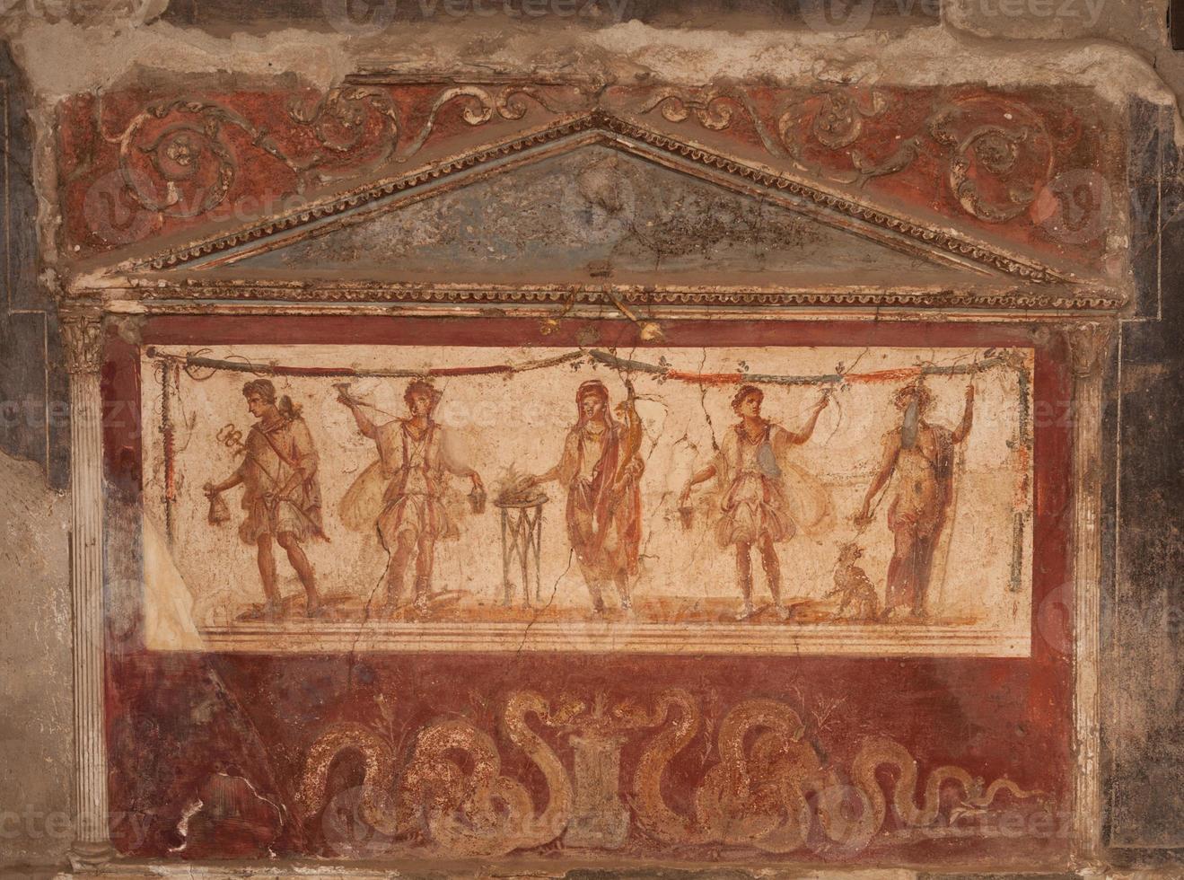 Fresco at Pompeii photo