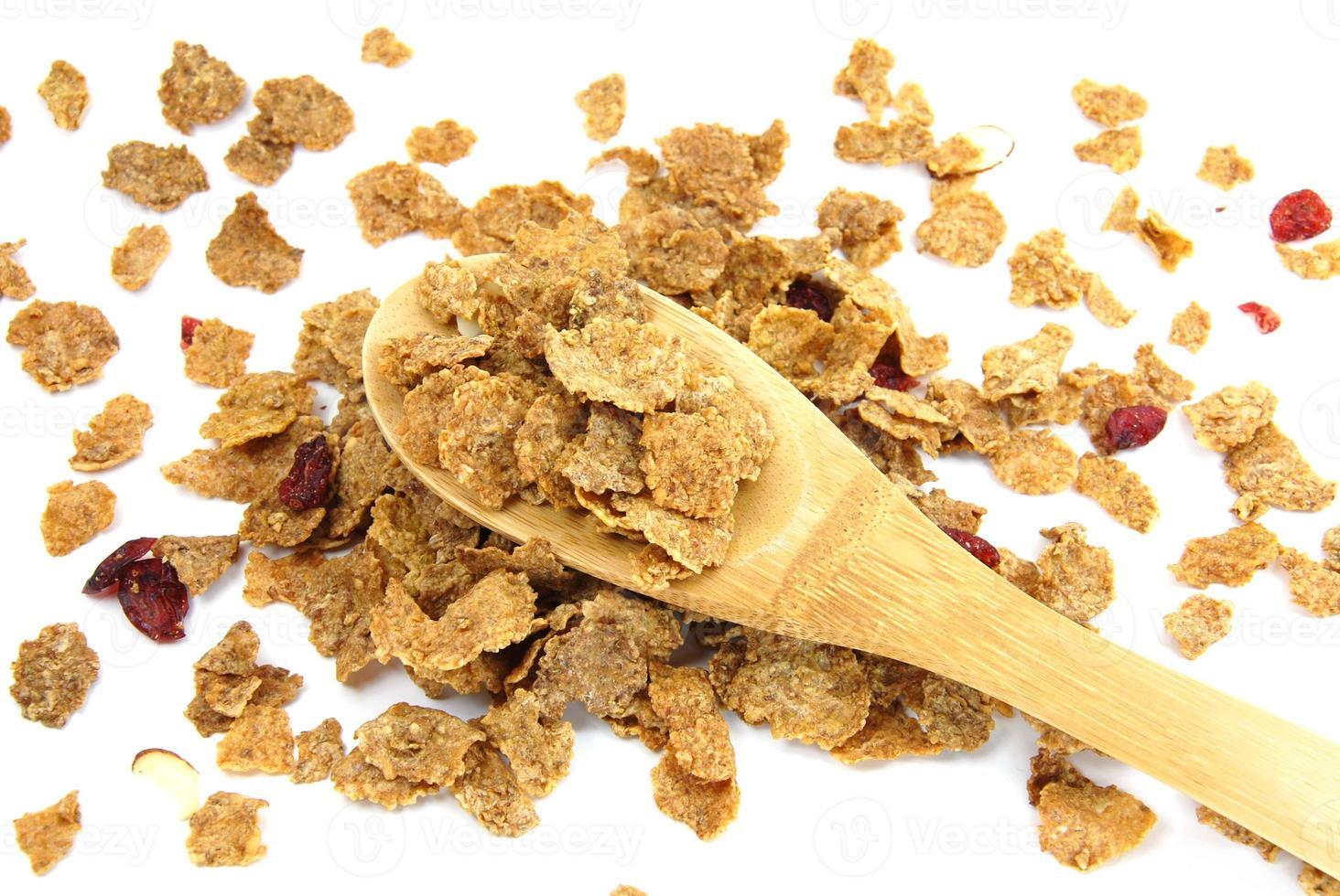 Wholegrain corn flakes photo