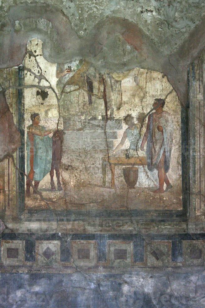 Pompeii fresco, Naples (Italy) photo