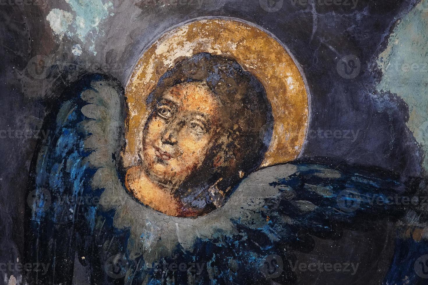 imagen de un santo en frescos foto